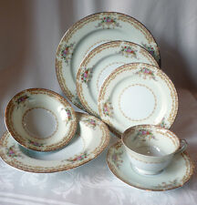 NORITAKE-TUSCANA # 3035-Japan-c.1948-1952 -Vintage Noritake 7 Pc.Place setting-