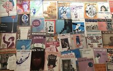Vintage Sheet Music Lot 50 Popular Music Military Piano
