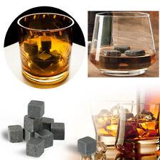 9pcs Wein Whisky Eis Steinen Getränke Kühler Würfel Bier Whiskey Felsen Granit