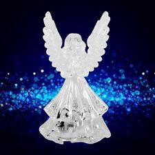 Multi Color Changing Night Light Crystal LED Decoration Angel Shape Acrylic