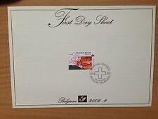 Belgium First Day Sheet 2002 Red Cross / Croix Rouge / Rode Kruis