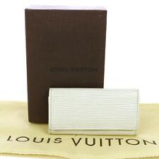 AUTHENTIC LOUIS VUITTON MULTICLES 4 HOOKS KEY CASE EPI WHITE M6382J BT13195