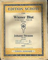 Johann Strauß : Wiener Blut, alte Noten Übergröße
