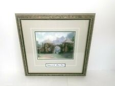 Thomas Kincade Entrance To The Manor House Painting Framed Print 17 x 17
