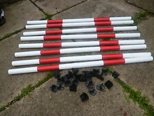 DOG AGILITY PACK 8 POLES +24 QUALITY JUMP CUPS TRAINING OBEDIENCE EQUIPMENT