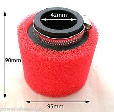 AF027 42MM Rojo Esponja Filtro de aire para la suciedad Pit Bike ATV Quad