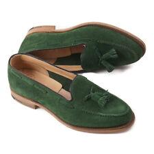 NIB $625 CHURCH'S 'Fosbury' Green Suede Tassel Loafers US 8 (UK 7) Shoes