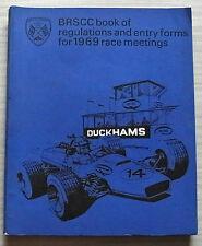 BRSCC libro de reglamentos & formularios de entrada para reuniones de carreras de 1969