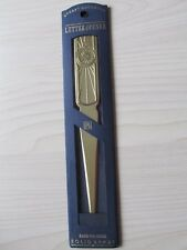STUART HOUGHTON HAND POLISHED SOLID BRASS LETTER OPENER, UNUSED.