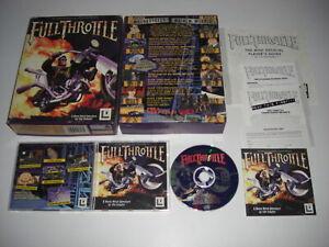 FULL THROTTLE Pc Cd Rom LucasArts Original BIG BOX - FAST SECURE POST