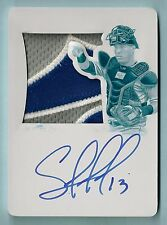 SALVADOR PEREZ 2015 NATIONAL TREASURES GAME USED PATCH PRINTING PLATE AUTO 1/1