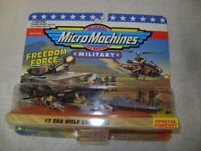 Military Micro Machines 1995 SEA WOLF COMMAND UH-60, F-14, BATTLESHIP
