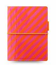 Filofax Pocket Organizer A7 Terminplaner Domino Orange Pink Verschlußgummi 22576