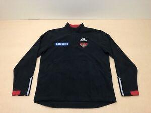 Adidas Essendon Bombers Jumper Sweater Men ~ Size Medium ~ Great Cond 1/4 Zip Up