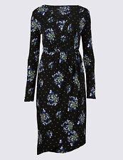 BNWT M&S COLLECTION Floral Print Asymmetric Wrap Midi Dress UK 18