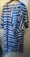 NWT LuLaRoe S Solid Blue White Tie Dye Stripes Shirley Kimono Coverup Chloe Blac