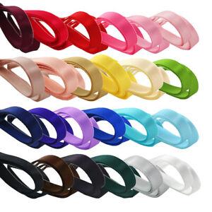 "Lot 24Pcs Double Face Satin Ribbon DIY Hair Bow Wedding Party Craft 1/4"" 6mm"
