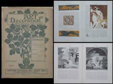 ART ET DECORATION - SEPTEMBRE 1910 - ROUBILLE, FRITZ ERLER, PILLARD VERNEUIL