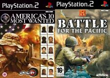 americas 10 most wanted & battle for the pacific     ps2 pal