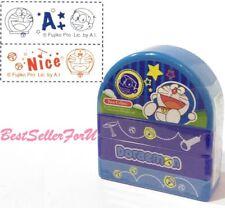 2-in-1 Doraemon Self-inking Stamps Teacher Homework Encourage Review Rubber Chop
