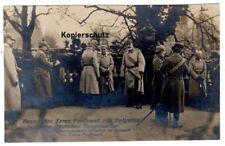 Foto Ak 1916 Reichskanzler erwartet Zar Ferdinand v. Bulgarien, Bethmann Hollweg