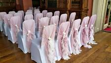 Dusky Pink Wedding Ruffles Chair Cover Hood Sash FOR EVENT DECOR HIRE ONLY!!!