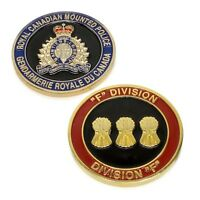 "RCMP Police Challenge Coin ""F"" Division Unit Royal Canadian Mounted Police"