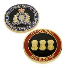 """RCMP Police Challenge Coin """"F"""" Division Unit Royal Canadian Mounted Police"""