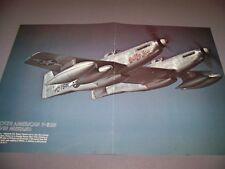 "VINTAGE..F-82B TWIN MUSTANG ""BETTY JOE""..2-PAGE COLOR PHOTO POSTER..RARE! (813H)"