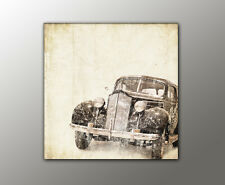 100x100cm Wandbild Halb Original Vintage, Nostalgie, Retro, old style Oldtimer