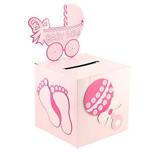 Baby Girl and Boy Baby Shower Keepsake Wishing Well Carriage Decoration Box
