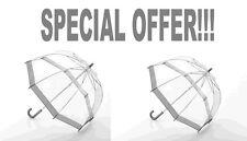 Fulton Funbrella Kinder Regenschirm Silber Rand Set Von 2