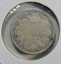 1880H Canada - 5 cents SILVER coin - Graded VF