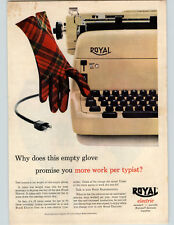1955 Paper Ad COLOR Royal Electrics Standard Portable Electrice Typewriter