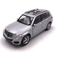 Modellauto Mercedes Benz GLK SUV Silber  Auto Maßstab 1:34-39 (lizensiert)