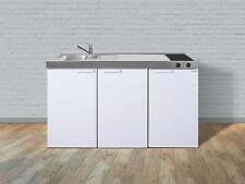 Stengel Mini Cucina Pantry Singolo 150cm Bianco Metallo Vasca Destra Ceran