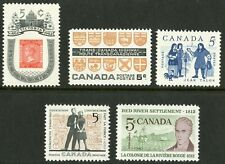 Canada   1962   Unitrade # 396-400   Complete Mint Never Hinged Year Set