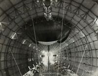 ORIGINAL- AIRSHIP ZRS-4 USS *AKRON OFFICIAL PHOTO (INSIDE VIEW AKRON).