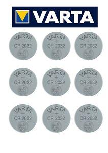 10x Varta CR 2032 DL2032 BR 2032 Knopfzellen Batterien 10 Stück NEU * aus 2021 *