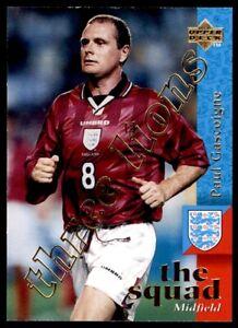 Upper Deck England (1998) Paul Gascoigne Three Lions Chase card No. 88