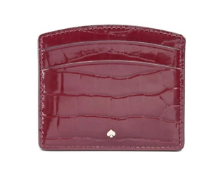 Kate Spade Sylvia Croc-Embossed Leather Women's Small Card Case Wallet