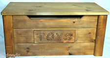 toy chest handmade solid wooden pine toy box WALNUT