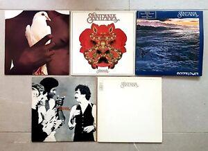 SANTANA Collection 5 x VINYL LP MOONFLOWER INNER FESTIVAL WELCOME JOB LOT