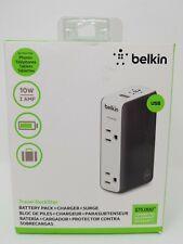 Belkin Travel Rockstar Battery Pack+Charger+Surge Protector For Phones & Tablets