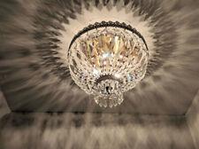 Metropolitan 3 Light Antique Bronze Crystal Flush Mount Ceiling Light 12
