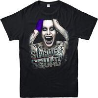 Suicide Squad T-Shirt Super Villain Joker Crazy Colour Gift Adult & kids Tee Top