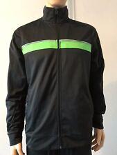 Crane Herren-Sport-, Fitness-Jacke, schwarz mit grün, L 52/54