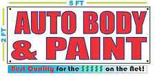 AUTO BODY & PAINT Banner Sign NEW Larger Size Best Price for The $$$