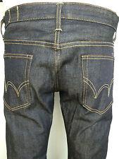edwin unwashed raw Japanese denim slim fit jeans men SZ  34/34   tapered