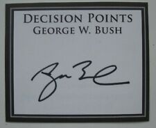 More details for george w bush decision points hand signed book plate autograph.